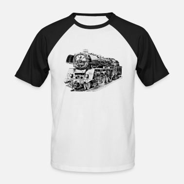 Steam steam locomotive - Men's Baseball T-Shirt