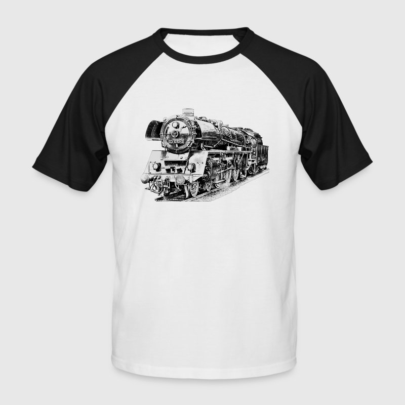 steam locomotive - Men's Baseball T-Shirt