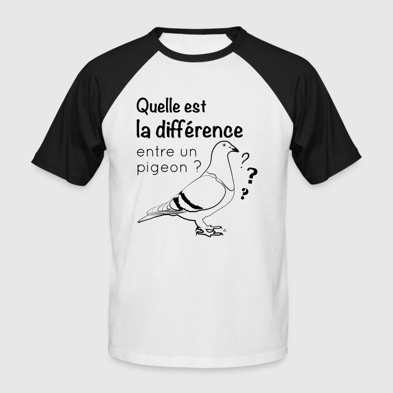 Pigeon - T-shirt baseball manches courtes Homme