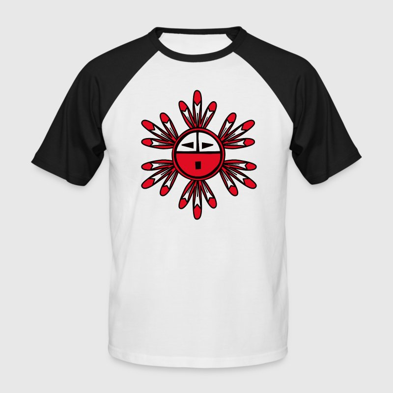 Hopi Kachina  Sun Symbol - Men's Baseball T-Shirt