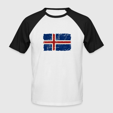 Iceland Iceland Vintage Flag - T-shirt baseball manches courtes Homme