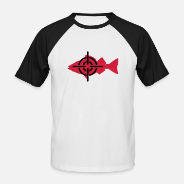 Fish fishing - Men's Baseball T-Shirt