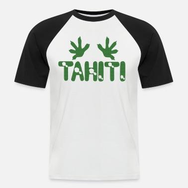 58ca19af746 polynesian tattoo tahiti map gecko T-shirt contrasté Homme