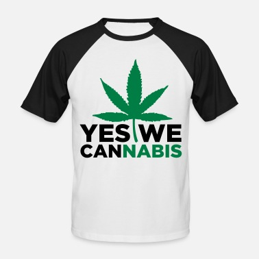 Yes We Cannabis Yes we Cannabis! - Baseball T-shirt mænd