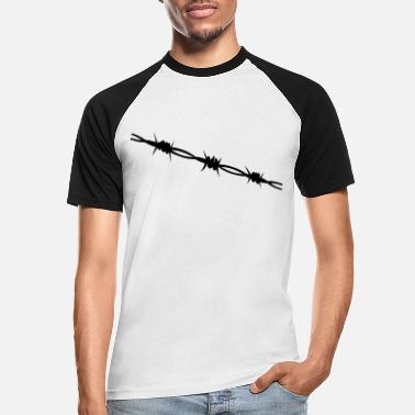 Barbed Wire Barbed Wire - Men's Baseball T-Shirt
