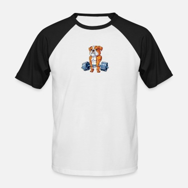 Deadlift bulldog - Men's Baseball T-Shirt