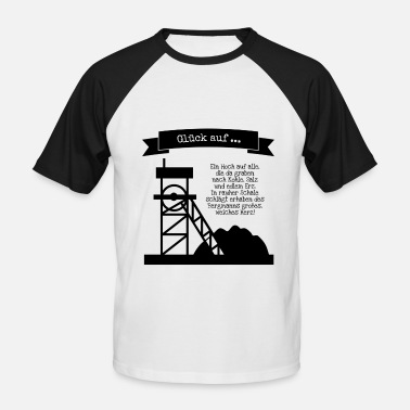 Miner Bergmann saying shirt - Men's Baseball T-Shirt