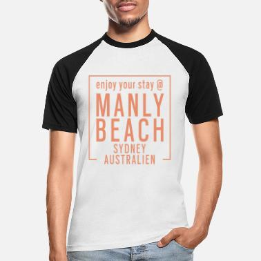 Manly Enjoy Manly Beach Sydney Australien Urlaub Tshirt - Männer Baseball T-Shirt