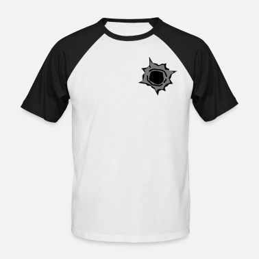Bullet Hole bullet hole - Men's Baseball T-Shirt