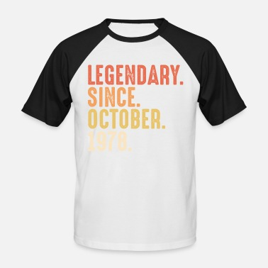 Procreación Legendary since october 1978 - 50. Geburtstag Bday - Camiseta de béisbol hombre