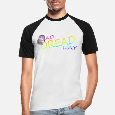 Øko Bad Dread Day Rainbow Farverige - Baseball T-shirt mænd
