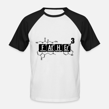 Periodic triple father-to-be dad chemist laboratory assistant - Men's Baseball T-Shirt