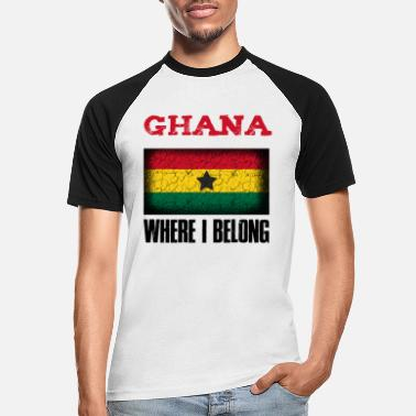 Kumasi Ghana Where I Belong | Accra Kumasi gift idea - Men's Baseball T-Shirt