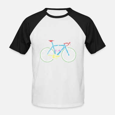 Kids Bike Bicycle anatomy for bike and cycling lovers - Men's Baseball T-Shirt