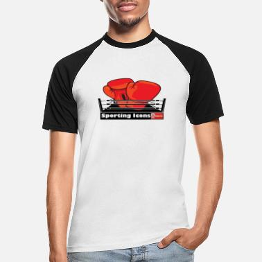 Tyson Fury Gloves in a boxing ring - Men's Baseball T-Shirt