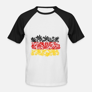 Cannabis weed Germany - Men's Baseball T-Shirt