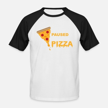 Pc Gaming Spelet är pausat Pizza Gaming Funny - Baseball T-shirt herr
