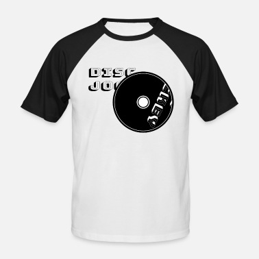 Hommes manches courtes T-shirt Born to be a DJ VINYLE Deejay deejaying disque
