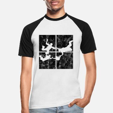 Retro Skydiving Parachute - Men's Baseball T-Shirt