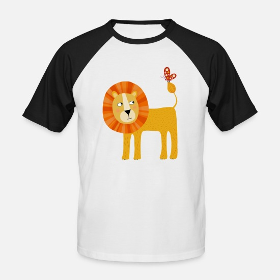 Collection For Kids T-Shirts - Lion - Men's Baseball T-Shirt white/black