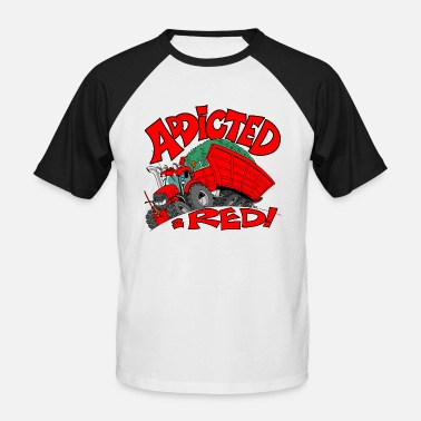 Borde borde blanco Addicted2RED - Camiseta de béisbol hombre