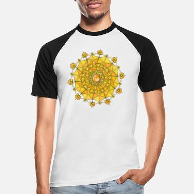 Juvel Zentangle mandala navle manipura chakra - Baseball T-skjorte for menn