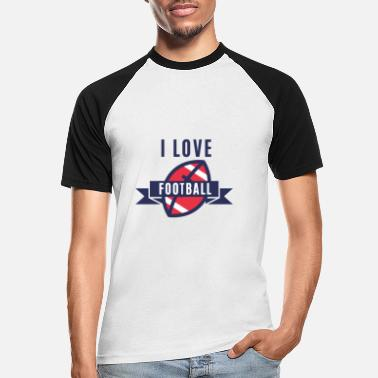 I Love Football I love Football with football ... I love football - Men's Baseball T-Shirt