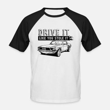 Bikes And Cars Collection Drive It - Coupe - Mannen baseball T-Shirt