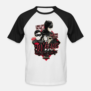 Superhelden Batman 80 Jahre Long Live The Bat Crew - Männer Baseball T-Shirt