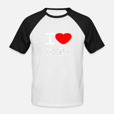 I Love Hockey I LOVE HOCKEY - Miesten baseballpaita