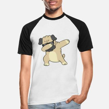 Dab Dabbing Dog Cool Dabbing Pug - Men's Baseball T-Shirt