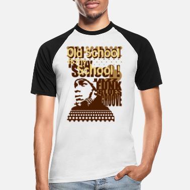 T-shirt contrasté homme manches courtes NOIR//BLANC OLD SCHOOL REVOLUTION