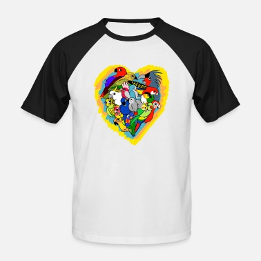 Parrot I heart parrots - Men's Baseball T-Shirt