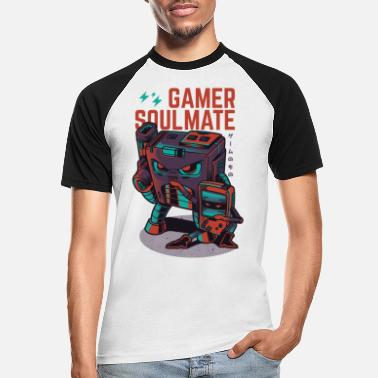 Collections gamer Soulmate - Mannen baseball T-Shirt