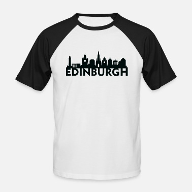 Edinburgh Edinburgh Scotland UK Skyline Gift Idea - Men's Baseball T-Shirt
