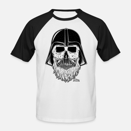 Nice T-Shirts - TBD_Darth_Vader_Blk - Men's Baseball T-Shirt white/black