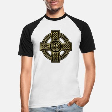 Celtic Celtic Cross - Männer Baseball T-Shirt