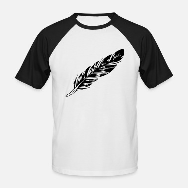 Feathered Animal feather - Men's Baseball T-Shirt