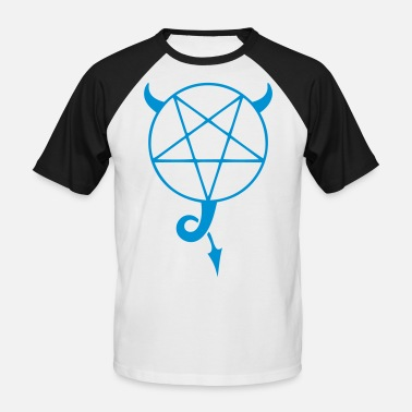 Satanism satanic pentagram - Men's Baseball T-Shirt