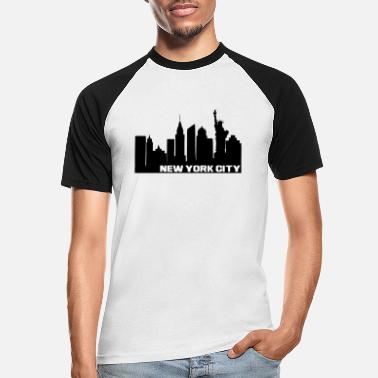 Broadway NY City - Männer Baseball T-Shirt