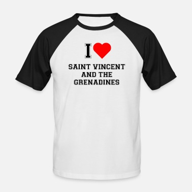 Saint Vincent And The Grenadines I love Saint Vincent and the Grenadines - Men's Baseball T-Shirt