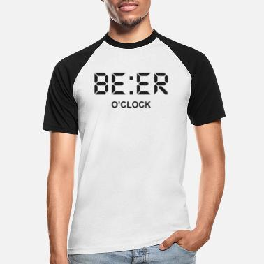 Clock Beer O clock Graphic - Men's Baseball T-Shirt