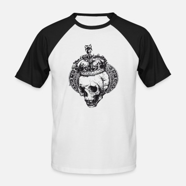 crowned skull - Männer Baseball T-Shirt
