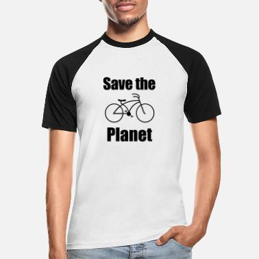 Save The Planet Bike Save The Planet Bærekraftig Bike Gift - Baseball T-skjorte for menn