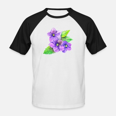 Violet Three Violets - Men's Baseball T-Shirt