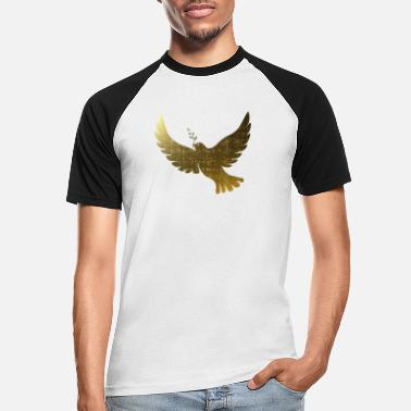 Golden peace doves - Men's Baseball T-Shirt