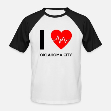 Oklahoma City I Love Oklahoma City - I Love Oklahoma City - Baseball T-skjorte for menn