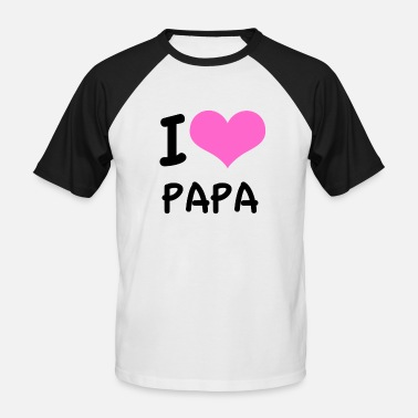 I love Daddy pink heart - Men's Baseball T-Shirt