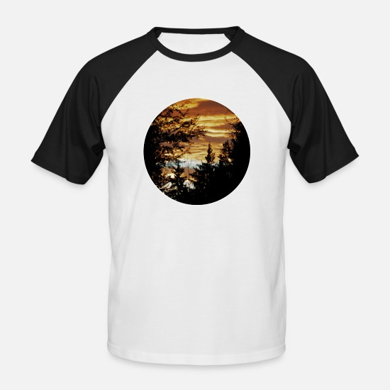 Rising Sun T-Shirts - Heaven - Men's Baseball T-Shirt white/black