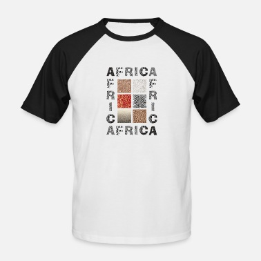 Africa background with wild animal - Männer Baseball T-Shirt